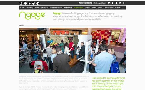Screenshot of Case Studies Page ngageltd.com - Ngage | Cisco - captured Oct. 26, 2014