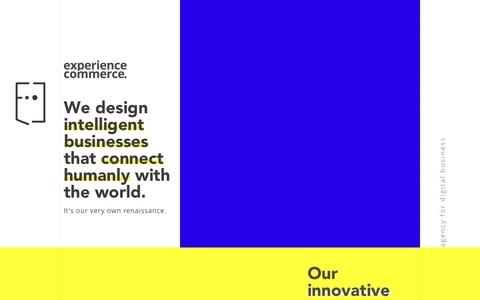 Screenshot of Home Page experiencecommerce.com - Digital Agency: Agency for Digital Business Experience Commerce - captured July 24, 2018