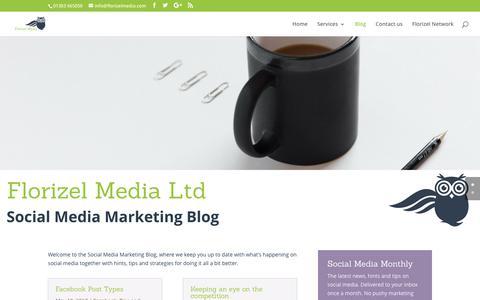 Screenshot of Blog florizelmedia.com - Social Media Marketing Blog   Florizel Media - captured June 6, 2017