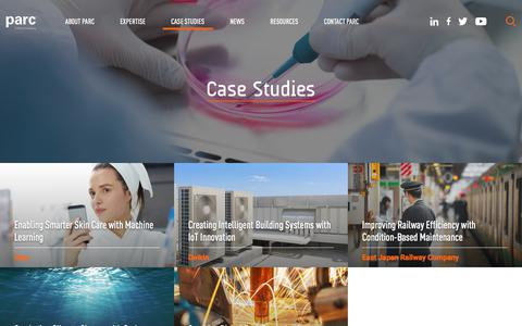 Screenshot of Case Studies Page parc.com - Case Studies - PARC - captured July 13, 2018