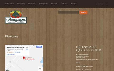 Screenshot of Maps & Directions Page greenscapesgardencenter.com - Directions - GreenScapes Garden Center & Landscape Co.GreenScapes Garden Center & Landscape Co. - captured Dec. 16, 2018
