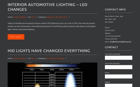 Screenshot of Press Page vibrancelighting.com - LED Technology News - Tucson, AZ LED & HID - captured Aug. 12, 2015