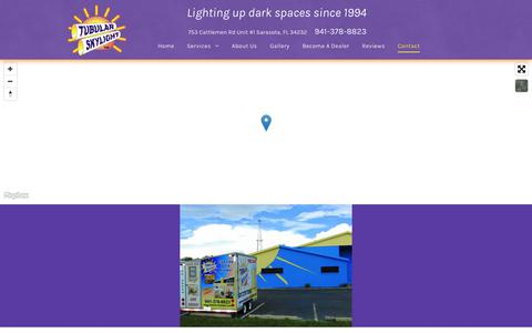 Screenshot of Contact Page tubular-skylight.com - Contact Tubular Skylight Inc. | Sarasota, FL | 941-378-8823 - captured Oct. 19, 2018
