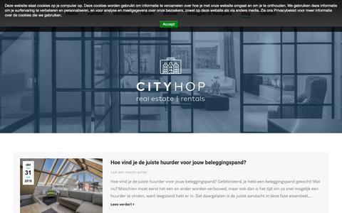 Screenshot of Blog cityhop.nl - blog – Cityhop - captured Nov. 10, 2018