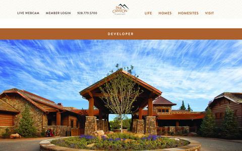 Screenshot of Developers Page pinecanyon.net - Real Estate Developer in Flagstaff Arizona | Pine Canyon - captured July 18, 2018