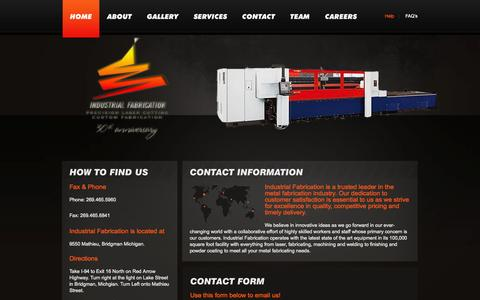 Screenshot of Contact Page Maps & Directions Page indfabrication.com - Industrial Fabrication, LLC. - Contact Us - captured Oct. 23, 2014