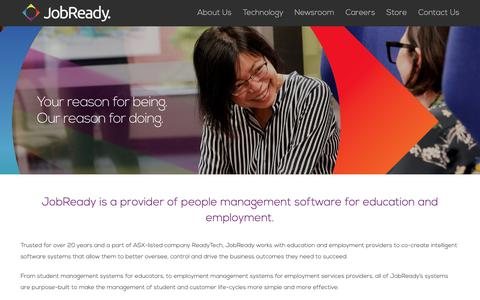Screenshot of About Page jobready.com.au - JobReady | About JobReady - captured May 4, 2019