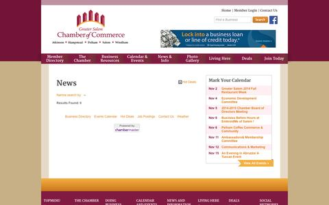 Screenshot of Press Page gschamber.com - News - Greater Salem Chamber of Commerce - captured Nov. 2, 2014
