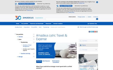 Amadeus cytric Travel & Expense  | Advanced spend management