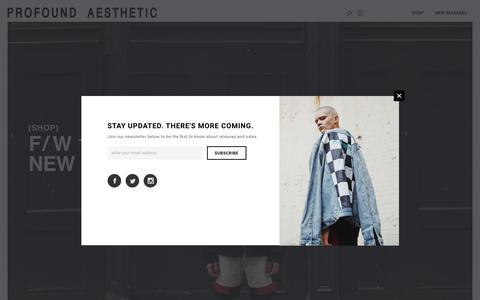 Screenshot of Home Page profoundco.com - PROFOUND AESTHETIC – Profound Aesthetic - captured Dec. 16, 2018