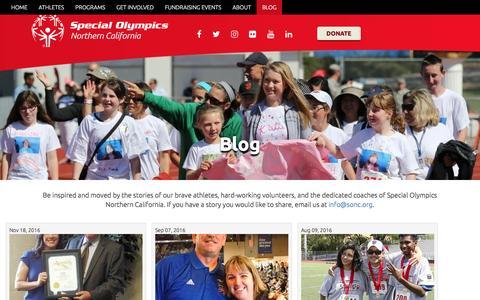 Screenshot of Blog sonc.org - Blog   Special Olympics Northern California - captured Dec. 3, 2016
