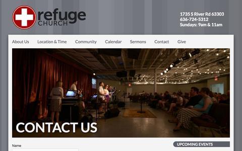 Screenshot of Contact Page seekrefuge.net - Contact Us – Refuge Church - captured Oct. 1, 2014
