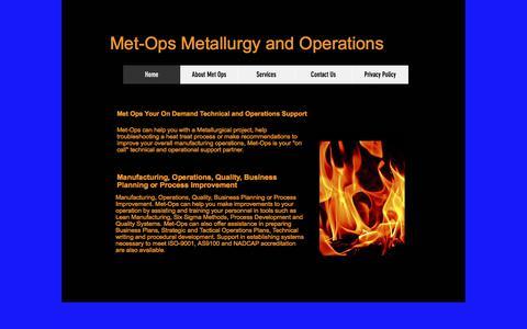 Screenshot of Home Page metops.com - MetOps - captured Sept. 20, 2018