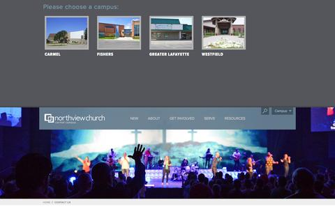 Screenshot of Contact Page northviewchurch.us - Contact Us - Northview Church - captured Sept. 30, 2014