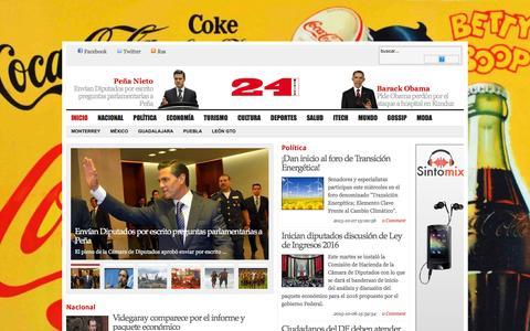 Screenshot of Home Page 24mexico.mx - 24mexico.mx - captured Nov. 21, 2015