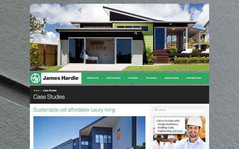 Screenshot of Case Studies Page jameshardie.com.au - Case Study | James Hardie - captured Oct. 30, 2014