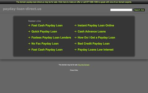 Screenshot of Home Page payday-loan-direct.us - Payday-Loan-Direct.us - captured Sept. 5, 2015