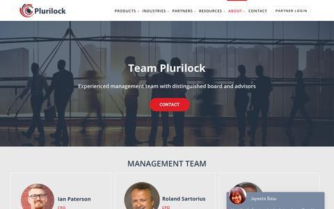 Screenshot of Team Page plurilock.com - Team - Plurilock - captured Nov. 3, 2018