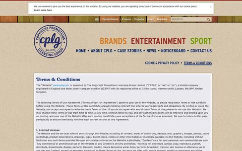 Screenshot of Terms Page cplg.com - Terms & Conditions | CPLG - captured Oct. 1, 2014