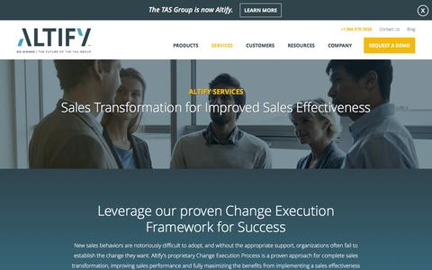 Screenshot of Services Page altify.com - Services - Altify - captured April 14, 2016