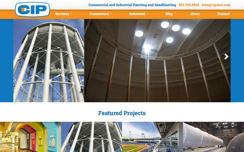 Screenshot of Home Page cipaint.com - Commercial Painting Contractors, Industrial Sandblasting | CIP - captured Jan. 27, 2016
