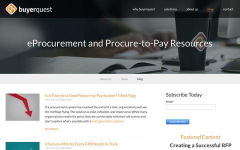 eProcurement & Procure-to-Pay Resources | BuyerQuest