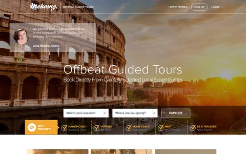Screenshot of Home Page mekomy.com - Mekomy - captured Sept. 19, 2014