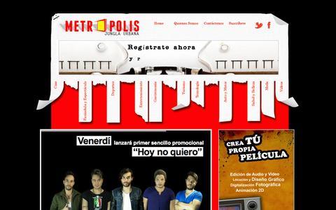 Screenshot of Home Page diariometropolis.com.ve - Diario Metropolis - : Diario Metropolis - captured Sept. 30, 2014