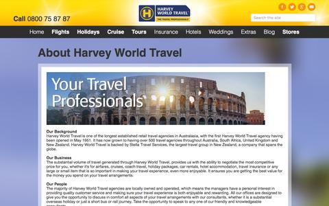 Screenshot of About Page harveyworld.co.nz - About Harvey World Travel - captured Jan. 26, 2016