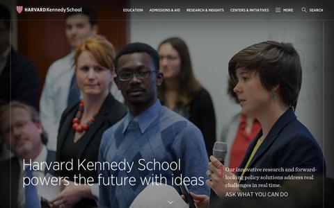 Harvard Kennedy School | Harvard Kennedy School