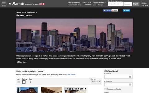 Find Denver Hotels by Marriott