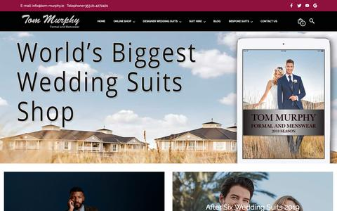 Screenshot of Home Page tom-murphy.ie - Men's Suits |Mens Suits Cork |Tom Murphy Formal Wear - captured June 14, 2019