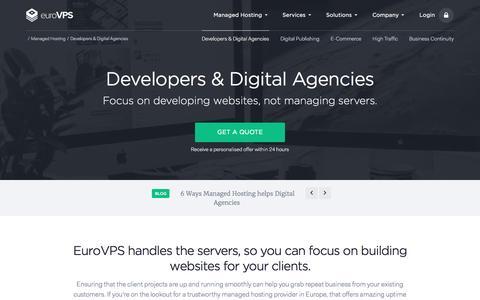 Screenshot of Developers Page eurovps.com - Managed Hosting for Developers & Digital Agencies | EuroVPS - captured Nov. 20, 2016