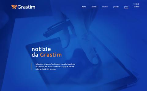 Screenshot of Press Page grastim.it - Grastim | Press - captured July 22, 2018