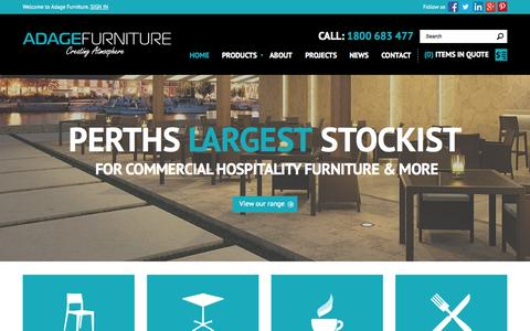 Screenshot of Home Page adagefurniture.com.au - Commercial Furniture Perth, Cafe & Restaurant Furniture Perth - Call 1800 683 477 - Adage Furniture - captured Sept. 30, 2014