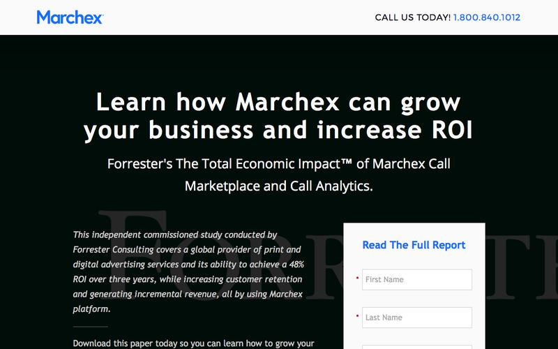 Marchex - Forrester's The Total Impact of Marchex Call Marketplace and Call Analytics