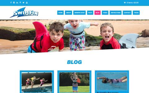Screenshot of Press Page swimfin.co.uk - Blog - SwimFin - captured Dec. 6, 2016