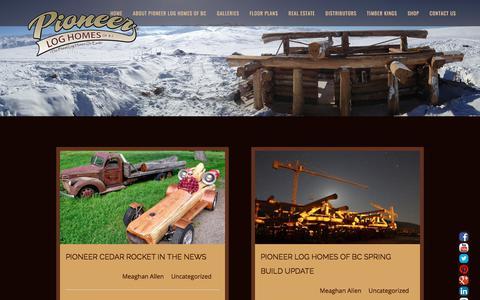 Screenshot of Blog pioneerloghomesofbc.com - Blog   Log Home And Log Cabin Builders   Pioneer Log Homes Of BC - captured Oct. 13, 2017