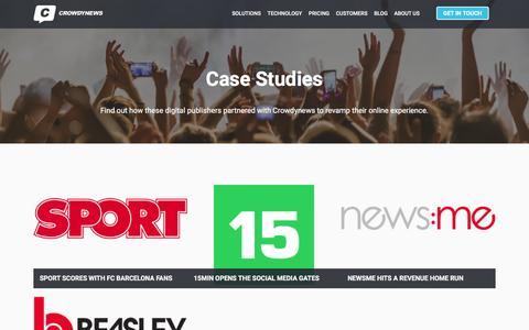 Screenshot of Case Studies Page crowdynews.com - Case Studies – Crowdynews - captured July 17, 2016