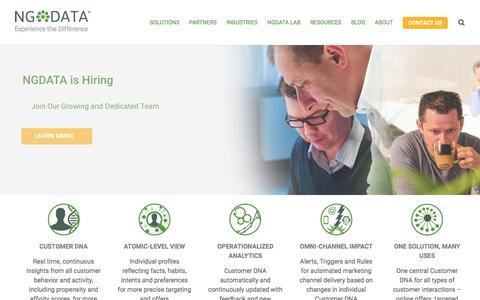 Big Data Analytics & Customer Experience Management - NGDATA