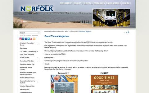 Screenshot of Signup Page norfolk.gov - City of Norfolk, Virginia - Official Website - Good Times Magazine - captured Aug. 1, 2017