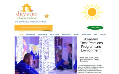 Screenshot of Home Page daystarkids.org - Daystar Kids - Where Love Shines - captured Oct. 7, 2018