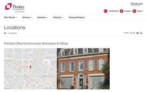 Screenshot of Locations Page prentice.us - Locations Archive - Prentice Office Environments - captured Sept. 29, 2018