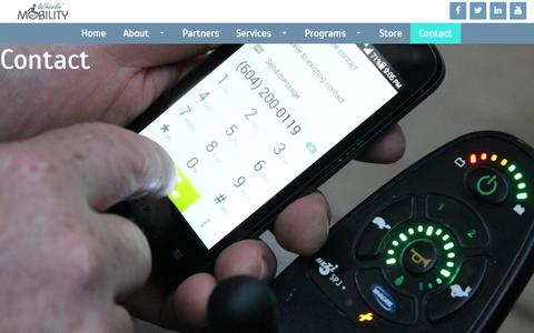 Screenshot of Contact Page wheelinmobility.com - Wheelin' Mobility - captured Aug. 13, 2015