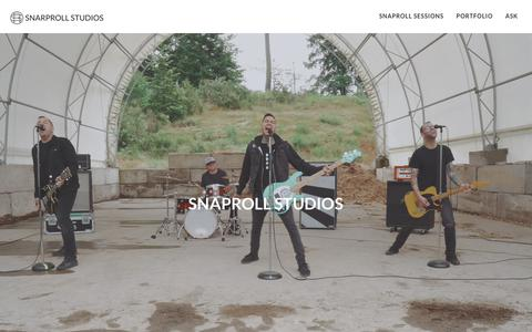 Screenshot of Home Page snaprollstudios.com - Snaproll Studios - captured Nov. 18, 2018