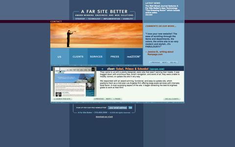 Screenshot of Home Page afarsitebetter.com - A Far Site Better, award winning Internet development,  e-commerce, web design, consulting-A Far Site Better - captured Jan. 23, 2015