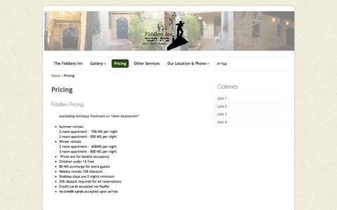 Screenshot of Pricing Page fiddlers-inn.net - Pricing - Fiddlers-InnFiddlers-Inn - captured Aug. 13, 2018