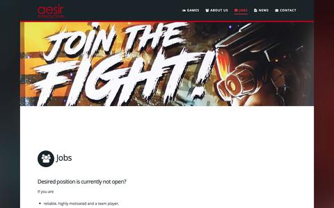 Screenshot of Jobs Page aesir-interactive.com - Jobs - Aesir Interactive GmbH - captured Oct. 3, 2018