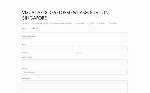 Screenshot of Contact Page vada.org.sg - Contact — Visual Arts Development Association Singapore - captured Oct. 21, 2017