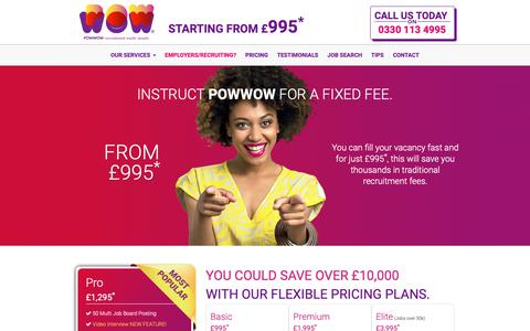 Screenshot of Pricing Page powwow.com - POWWOW ♥ Pricing - captured Sept. 29, 2018